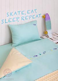 Комплект в кроватьLuxberry Skateboys, простыня без резинки