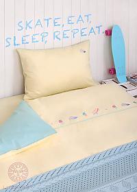 Комплект в кроватьLuxberry Skategirls, простыня без резинки