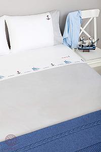 Комплект в кроватьLuxberry Sea dreams, простыня без резинки