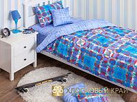 Комплект Хлопковый край Geometry blue