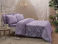 Жаккардовое постельное белье Tivolyo Amelfi, лиловое